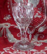 rare bel ancien verre a vin en cristal de baccarat XIX taillé ht 10.5cm