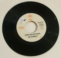 Joe Stampley  45  - There She Goes Again Epic Records Demonstration Promo
