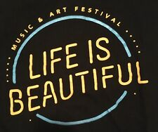 Life Is Beautiful Featival 2017 T-Shirt Black Size Small
