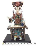 Home Decor,Vintage Sitting Chinese Artist in Traditional Costume,Porcelain Art!