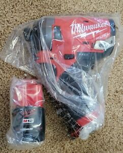 """NEW Milwaukee 2553-20 M12 FUEL 1/4"""" Hex Impact Driver w/ CP2.0 2.0Ah Battery"""