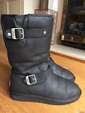 Ladies Black Leather Ugg Sutter Kensington Boots Size 7.5