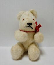 Sweet vintage white bear no Steiff also for Antique doll