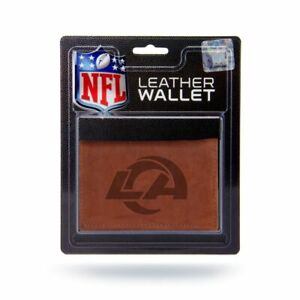 Los Angeles LA Rams Embossed Brown Leather Trifold Wallet