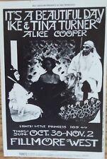 Bg 198 It's a Beautiful Day Ike & Tina Turner Alice Cooper Fillmore Postcard
