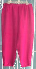EILEEN FISHER magenta dark rose Irish Linen pants capris L !!