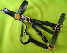 Quality Amish Made Heavyduty Leather Trail Halter Bridle Combination Combo~Nr