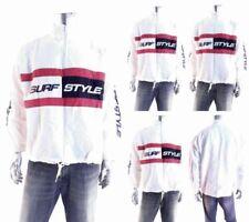 Surf Style Nylon Regular Size Coats & Jackets for Men