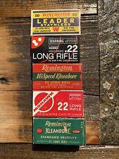 Vintage .22 Box Group #2 Winchester, Wards, Remington, Mohawk, Kleanbore