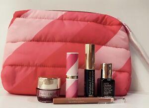 Estee Lauder Gift Set pouch, lip pencil nude, mascara resilience eye cream .17oz
