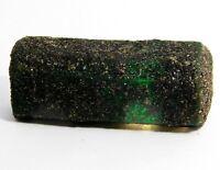 IGI CERTIFIED 228 Ct Natural Rich Green African Emerald Quartz Rough Gemstone