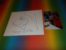 Romero Britto  Kunst Pop Art signiert signed Zeichnung Autogramm auf Briefkarte