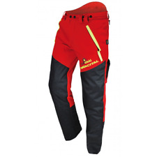 More details for chainsaw trousers class 1 type a cervin size 40 red