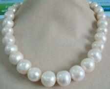 White Pearl Necklace 18K Gp New Huge 12.5-13.5Mm South Sea Genuine