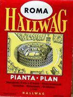 Roma Hallwag - pianta plan - monumenti d'arte e di storia - attraversamenti