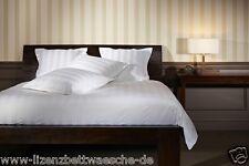 Mistral Home Bettwäsche Satin Stripe white 2 x 80x80 + 1 x 240x220cm