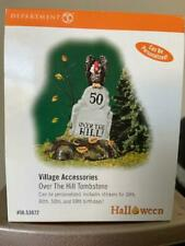 Department 56 Halloween Over the hill Tombstone w Stickers for age Birthdays