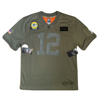Nike Green Bay Packers Salute To Service Game Jersey 12 RODGERS Youth Women XL