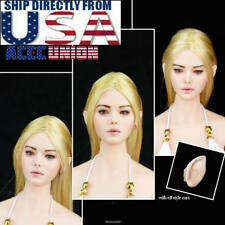 1/6 Fairy Elf Female Head Blonde Detachable Ears PALE For PHICEN Figure U.S.A.