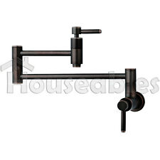 "21"" Modern Retractable Double Joint Wall Mount Pot Filler Oil Rubbed Bronze"