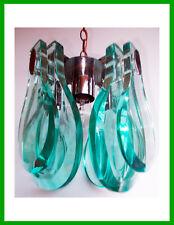 ✅Italian Chandelier Lampadario Pendant Cristal Art Fontana ArIe glass aquamarine