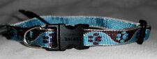 "Lupine Dog Collar 8"" - 12"" NWT .5"" Wide Adjusts MUDDY PAWS Pattern Guarantee"