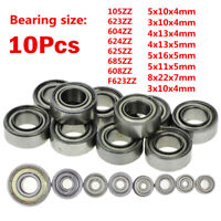 10Pcs 608/623/624/625/626/688zz Deep Groove Ball Bearing Miniature Bearings