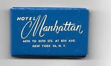 VINTAGE HOTEL MANHATTAN   NEW YORK CITY MINI-SOAP BAR Pre-1961
