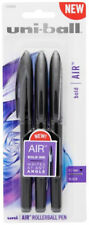 Uni-Ball Air Rollerball Pens Bold Ink Writes At Any Angle 0.7 mm Black Ink 3pk
