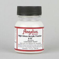 Angelus Acrylic Leather Paint HIGH GLOSS Finisher 1oz Bottle Factory Finish