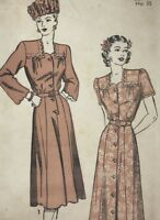 1940s Advance sewing pattern 4751 Dress Bust 32