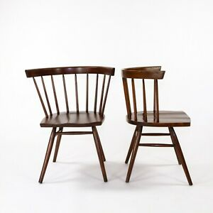 1947 Pair of George Nakashima for Knoll Associates N19 Straight Chairs in Walnut