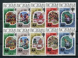 Nicaragua 2080/84 a + b postfrisch / Olympiade - Eisenbahn ...............1/3572