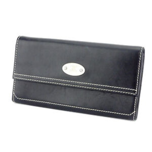 CELINE purse leather Auth used C3839