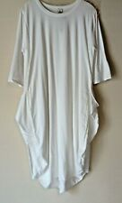 NEW LADIES JERSEY COTTON BLEND LAGENLOOK BOHO STYLE TUNIC DRESS WITH POCKETS