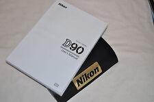 Genuine NIKON D90 Digital SLR Camera Original USER GUIDE Instruction Manual