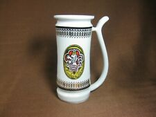 Jome Czechoslovakia Porcelain Tall Straw Handle Cup Karlovy Vary Gold Trim