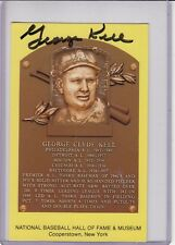 signed Hall of Fame Postcard George Kell with Certificate of Authenticity