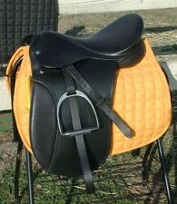 """Draft horse 18"""" Dressage saddle by Ascot 10"""" wide gullet fits flat wither horses"""