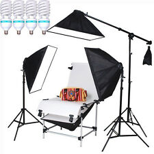 4*150W STUDIO CONTINUOUS LIGHTING SOFTBOX KIT SHOOTING TABLE DSLR CAMERA PRODUCT