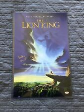 """Matthew Broderick Signed """"The Lion King"""" 11x17 Movie Poster, Autographed, COA"""
