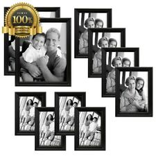 10 Multi Pack Picture Frame Value Set 8x10 5x7 4x6 Photo Decor Wall Family Wood