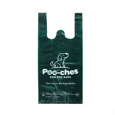 More details for dog poo bags 100 pack with tie handles strong biodegradable premium by poo-ches®