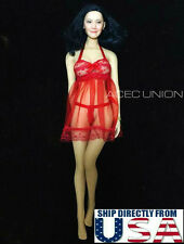 """1/6 Sexy Lace Babydoll Chemise Set RED For 12"""" Phicen Hot Toys Female Figure USA"""