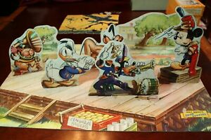 rare vintage old 1930s 1940s 3D Band Concert Mickey Mouse Donald duck Disney