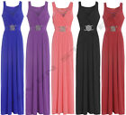 WEDDING BRIDESMAID GOWN MAXI PARTY COCKTAIL EVENING PROM BUCKLE DRESS