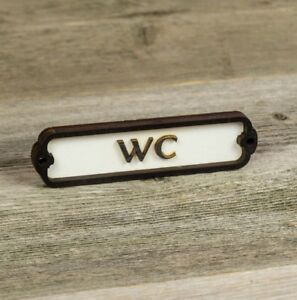 WC Door Sign, Toilette, Plaque, Vintage Style, Railway, Retro, Bathroom