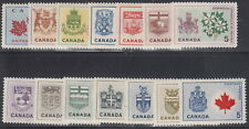 CANADA #417-429A 5¢ Provincial Flowers & Coats-of-Arms Full Set MNH