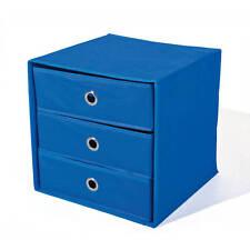 Boîte de rangement >Willy< 3 tiroirs bleu