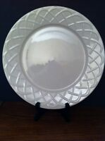 "Oneida ""Picnic"" White Stoneware Arch Braided Round Serving PLATTER Plate 12+"""